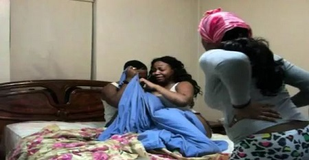 [Photos]: Cheating Married Woman Stuck To Boyfriend After S*x
