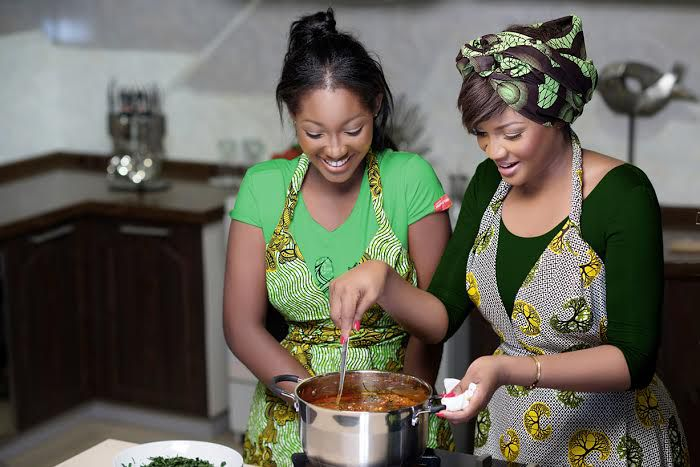 Omotola Jalade-Ekeinde and her second daughter