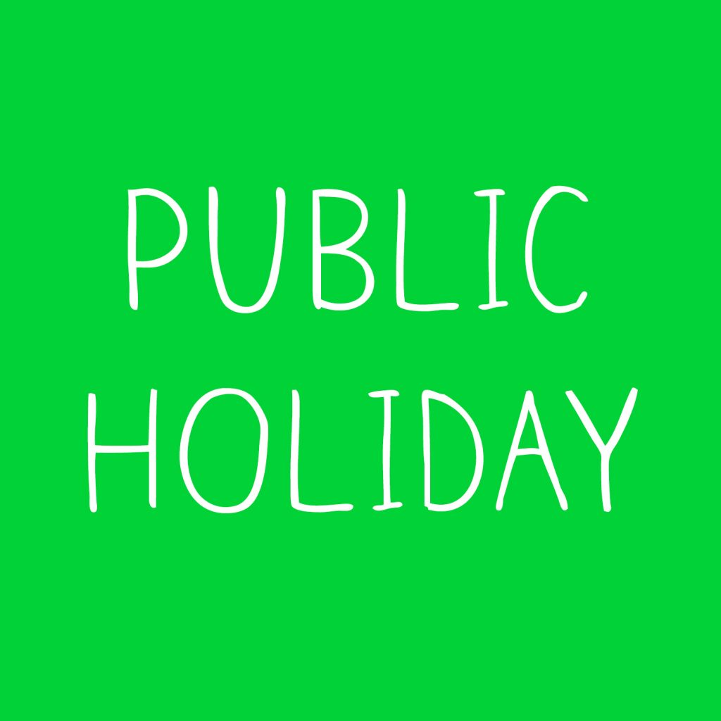 Federal government declares Tuesday and Wednesday public holiday
