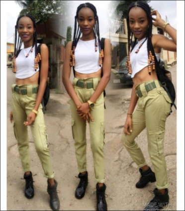 Female Corps Member Show Off Swag As She Rocks Her NYSC