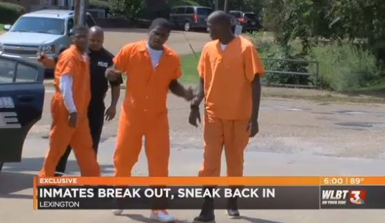 Prisoner Escapes From Jail To Steal Then Sneaks Back Inside