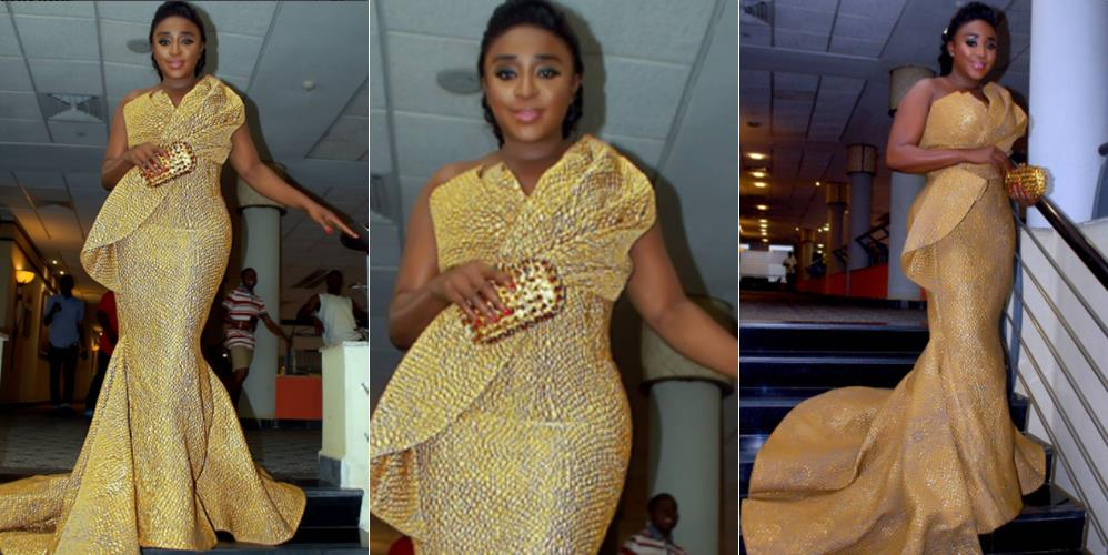 SEE Ini Edo's Classy Look To A Wedding Over The Weekend