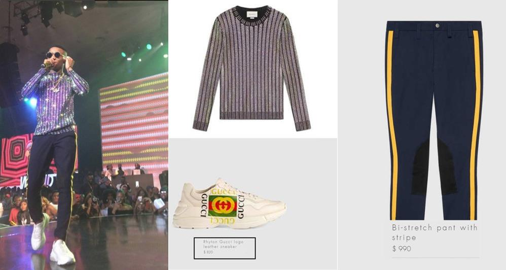 Gucci outfit to his concert costs