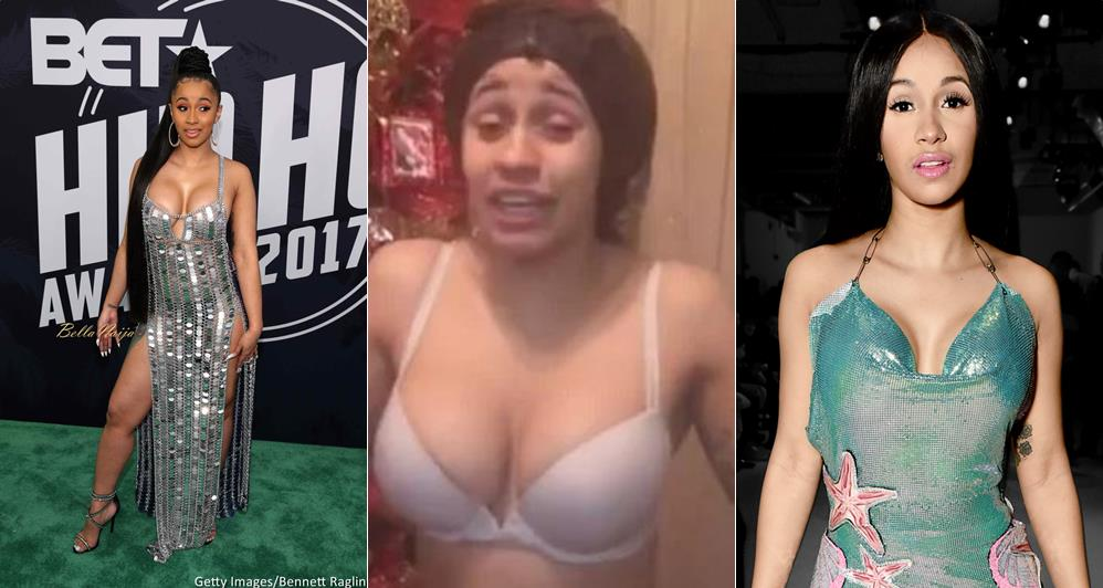 Cardi B Unveils Dramatic Before And After Makeover Of: Cardi B Strips Down To Her Bra To Thank God For A