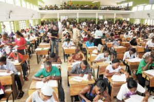 File photo of students writing exams