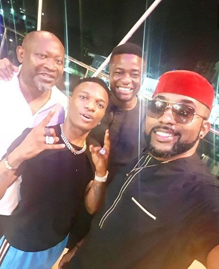 Wizkid and Banky W Spends Father and Son Moment in Lagos as they Hang out (photo)