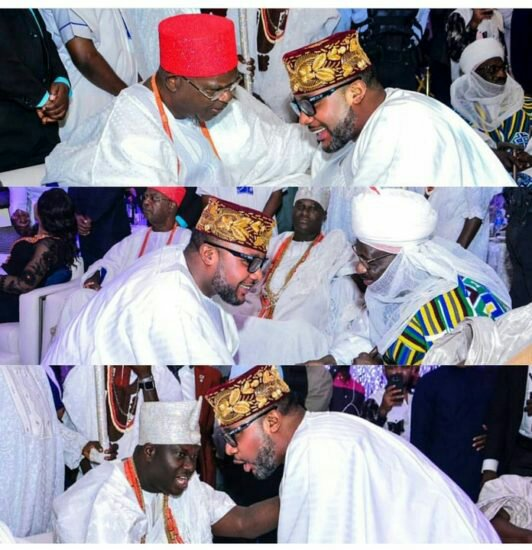 This Photo Of E-Money, Ooni Of Ife And Obi Of Onitsha Is Everything