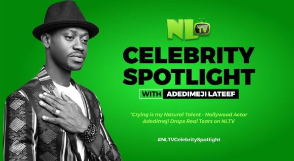 Crying Is My Natural Talent – Nollywood Actor 'Adedimeji Lateef' Cries On NL TV (Watch Video)