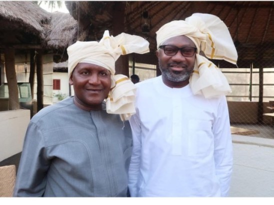 Aliko Dangote and Femi Otedola
