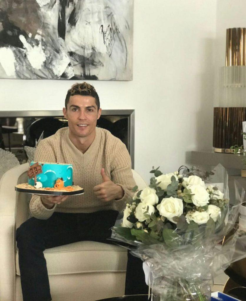 Cristiano Ronaldo Celebrates His 33rd Birthday. Shows Off His Cake (Pictured)