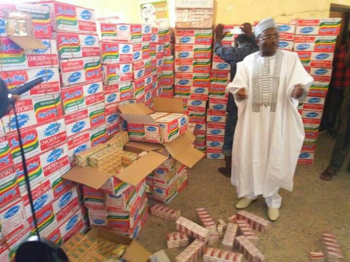 N19million Worth of illicit Drugs Concealed Inside Indomie Carton Discovered by NDLEA (Photo)