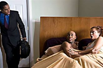 Man Catches Cheating Wife With Another Man In Bed