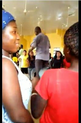 SHOCKING! Alleged UNIOSUN Lecturer Caught On Camera Publicly Flogging Female Students (Video)