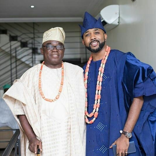 Banky W Jnr. Shares A Photo With Banky W Snr. As He Wishes His Dad A Happy Birthday