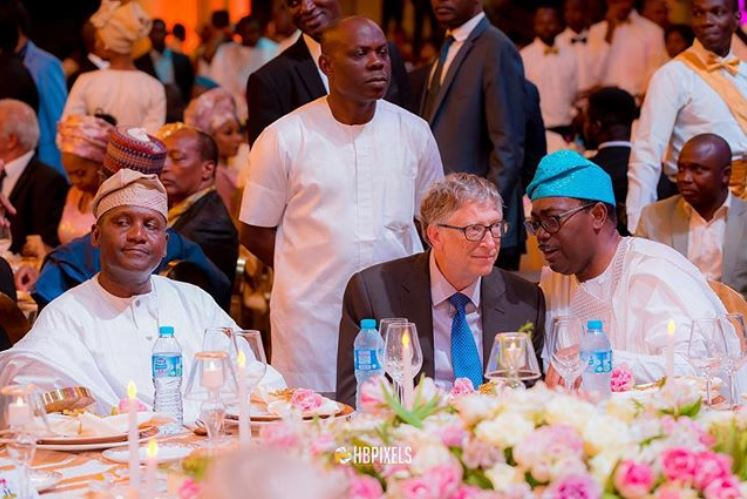 Photo Of Bill Gates At The Wedding Of Fatima Dangote S