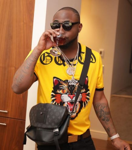 Davido Finally Meets The Female Who Tattooed His Face On Her Body (Photos)