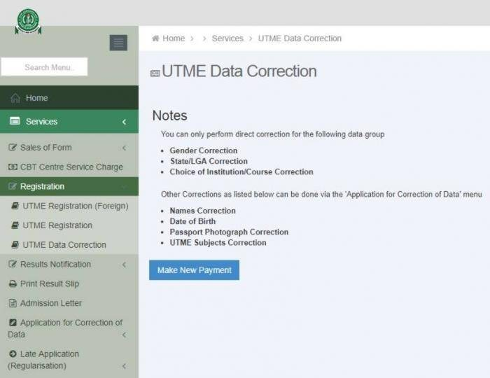Image result for JAMB 2019 Change Of Course, Institution And Data Correction Process