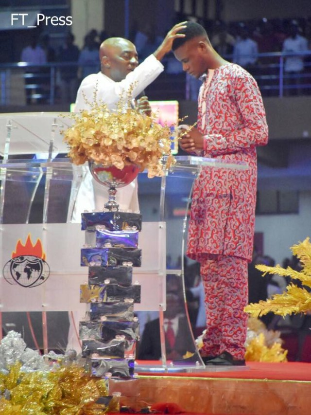 Bishop Oyedepo's handkerchief (Mantle) and (Anointing Oil) raise man