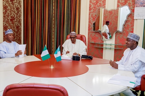 We Discussed Dino Melaye With President Buhari – Saraki, Dogara Speak On Aso Rock Meeting