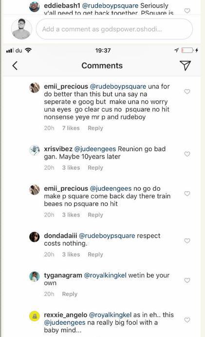 fans slam jude okoye for splitting psquare after he commented on wizkids post 3