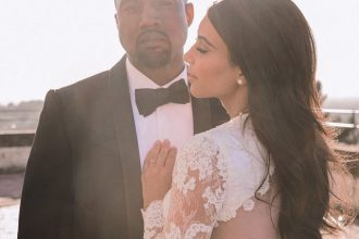 Kim Kardashian releases never before seen photos as she and Kanye celebrate their 5th wedding anniversary