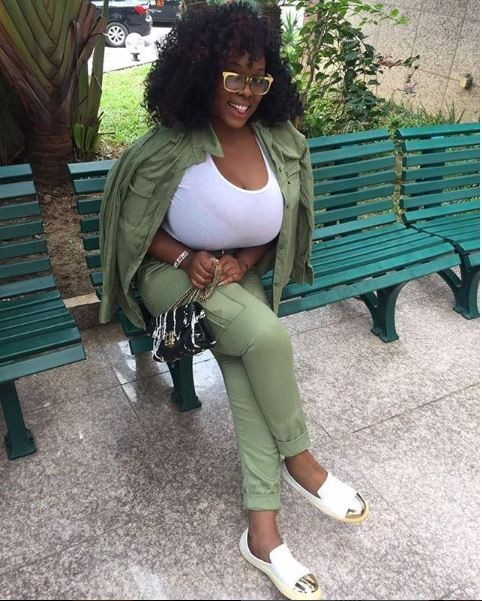plus size model eva kiss shows off her massive boobs as she wraps up her nysc programme photos 2 - Plus size-model, Eva Kiss exhibits off her large boobs as she wraps up her NYSC programme (Pictures)