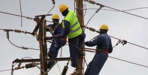 Electricity workers