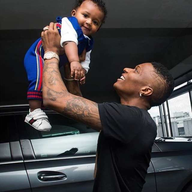 Image result for pictures of Wizkid and his son Zion