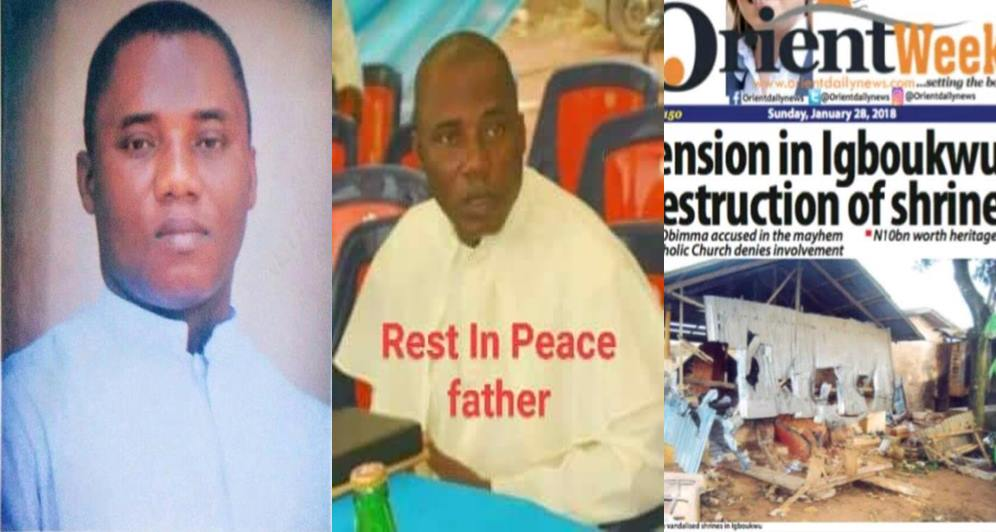 Three Catholic priests reportedly die after burning shrines in