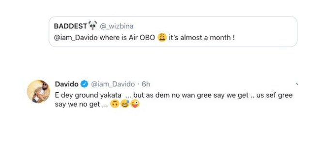 Davido Opens Up On His Delayed Private Jet's 'Public Appearance'
