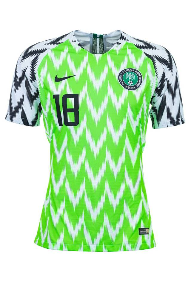 a4704b812 The magazine ranked all the kits of the national teams competing in the 2018  World Cup from worst to best and the Super Eagles  kit sits atop the list
