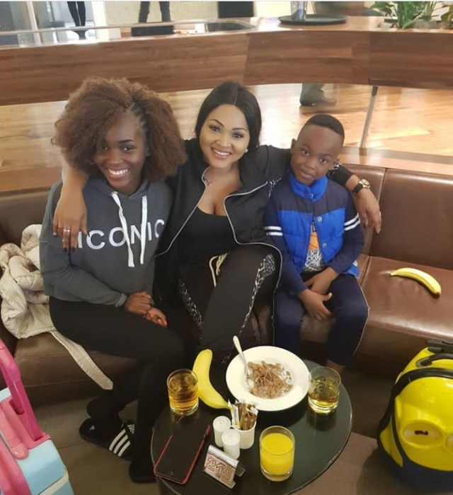 The actress and her children