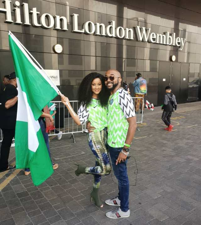 edf506721 Photos of your favourite celebrities rocking Nigeria s World Cup Kit ...