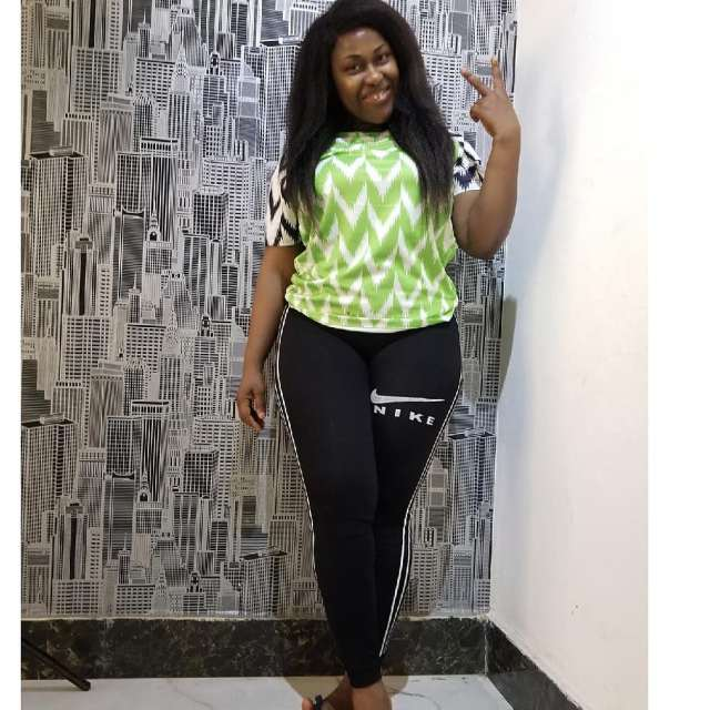 show me the country with a better jersey at the world cup uche jombo says fans react - Nollywood Actress, Uche Jombo, Reacts As FIFA Hands Samson Siasia Life Ban