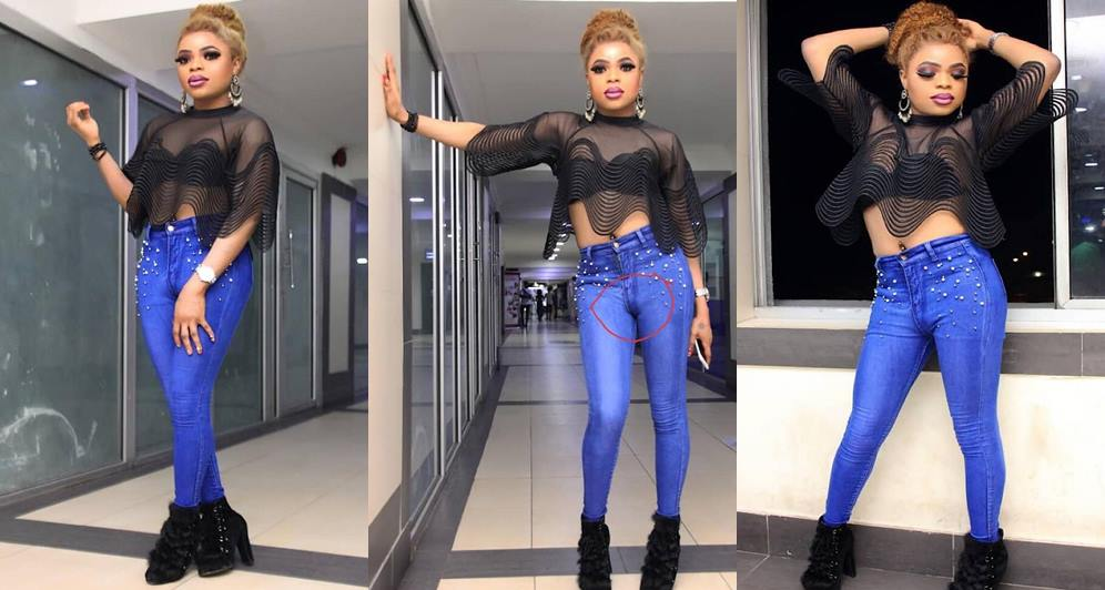 Image result for We can see your d**k – Fans to Bobrisky for rocking tight jeans (Photos)