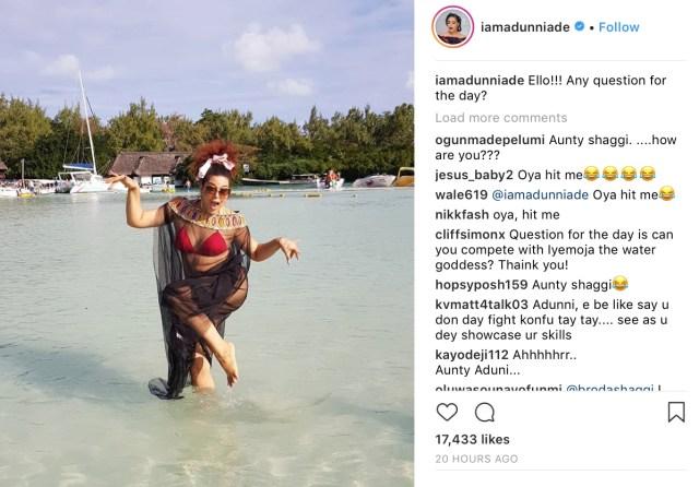 adunni ade mocks instagram trolls spites them
