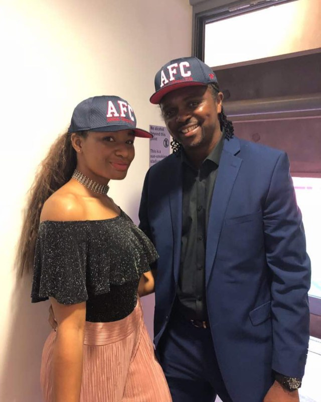 Kanu Nwankwo and his beautiful wife, Amara Kanu