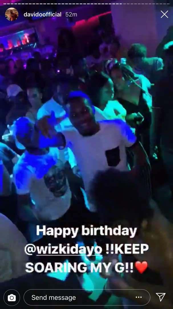 Davido celebrates Wizkid