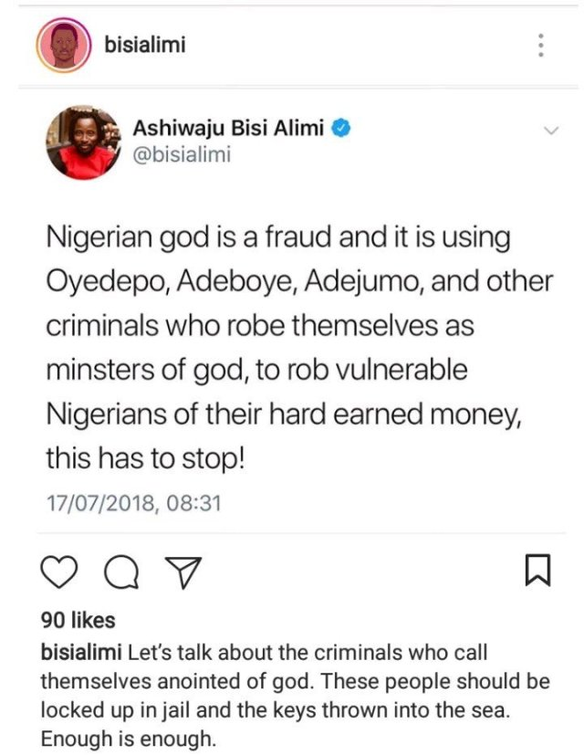 gay activist bisi alimi says nigerian god and pastors are frauds