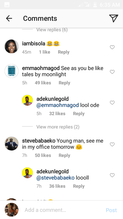 simi reacts to adekunle golds loved up throwback photo with a mystery girl 1