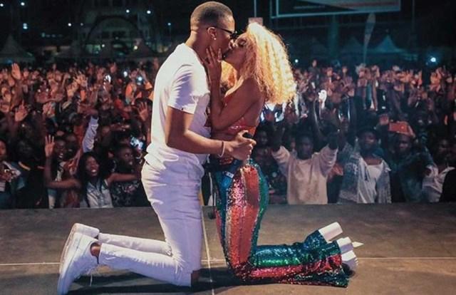 Vanessa Mdee kiss
