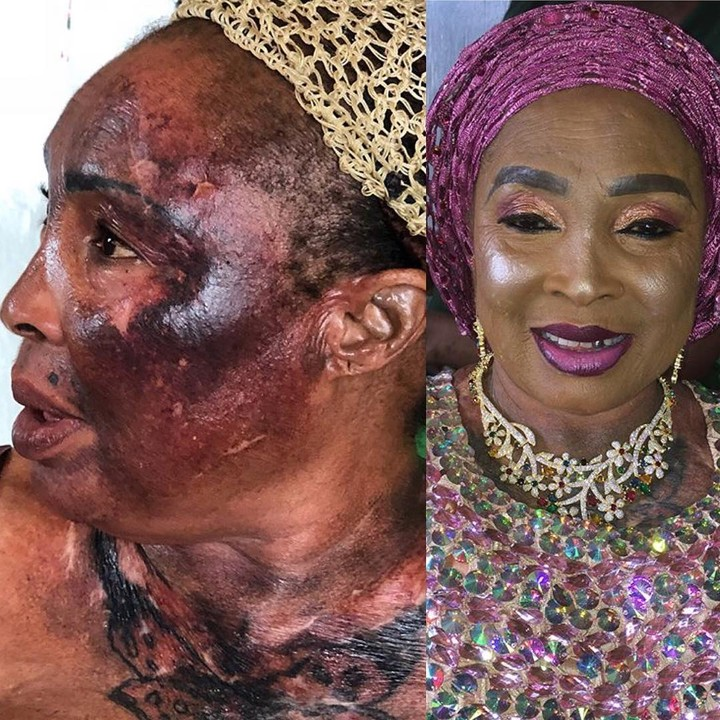 Image result for Nigerian brides with a shocking before and after makeup