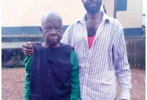 Pa Celestine Egbunuche (left) is serving his sentence in Enugu prison