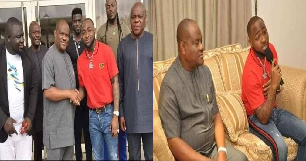Governor Wike hosts Davido and his crew at Rivers Govt house (Photos)
