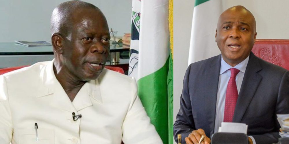 Adams Oshiomhole and Saraki