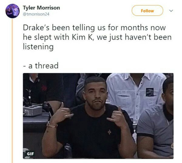 Trending: Fan shares Conspiracy Theory about Drake having an affair with Kim Kardashian