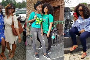 Nollywood Actress Mercy Aigbe and Daughter