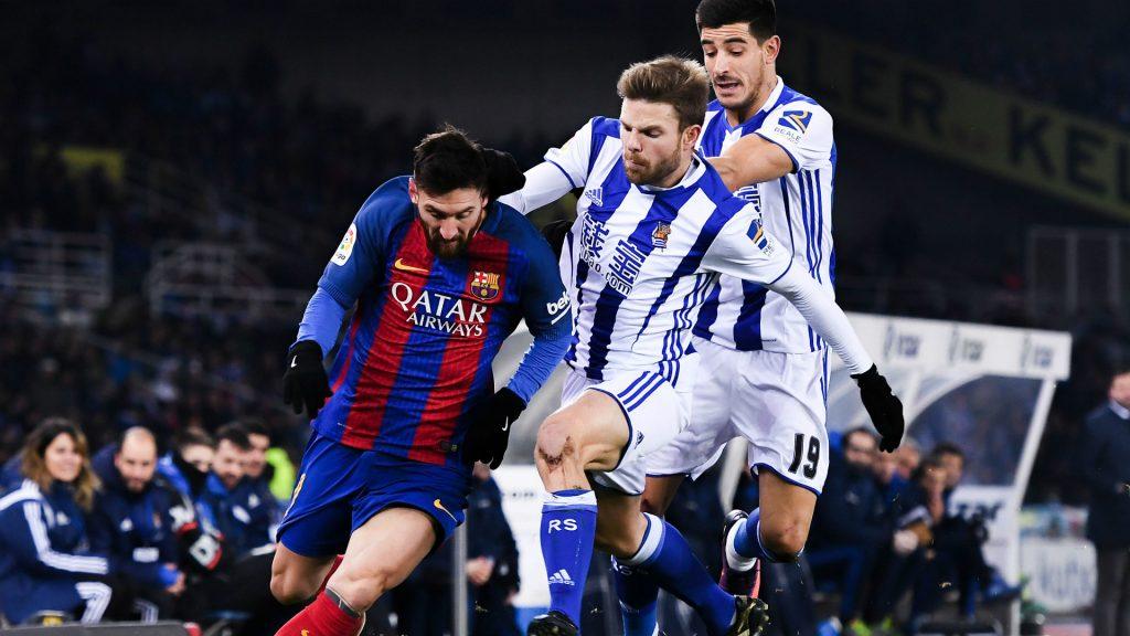 Lionel Messi vs Real Sociedad palyers