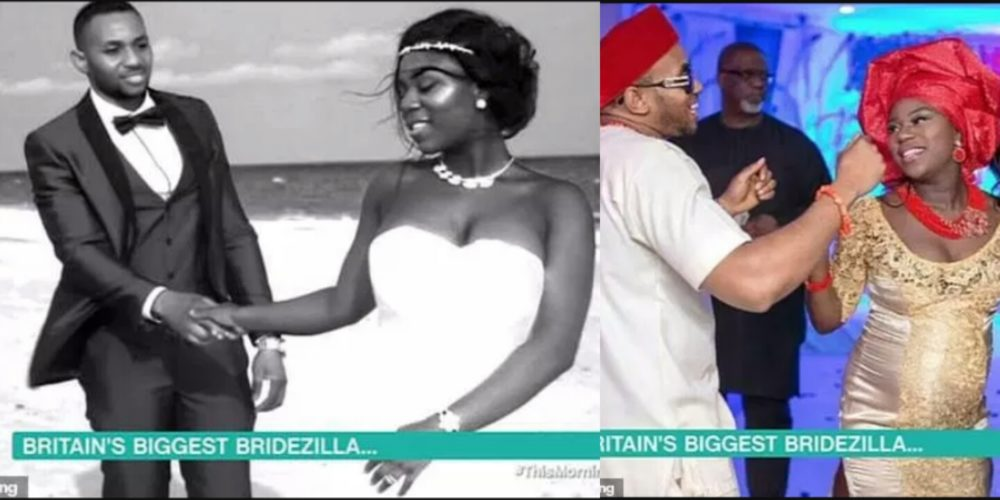 887e143987d A newlywed Nigerian lady has been branded  Britain s biggest bridezilla   after holding five different wedding ceremonies during which she wore 13  dresses.