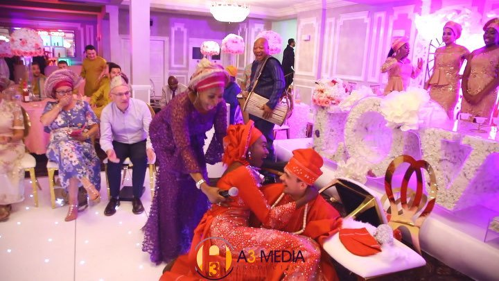 White Man Falls As He Carries His Yoruba Bride During Traditional Wedding